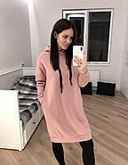 Пудровое удлиненное платье-худи Orli, фото 3