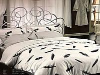 Комплект постельного белья Maison D'or Plumes Grey сатин 220-200 см серый