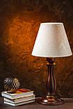 Настольная лампа на резной ножке, фото 2