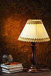 Настольная лампа на резной ножке, фото 3