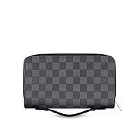Мужской кошелёк Louis Vuitton Zippy XL Damier Graphite. Портмоне Луи Виттон