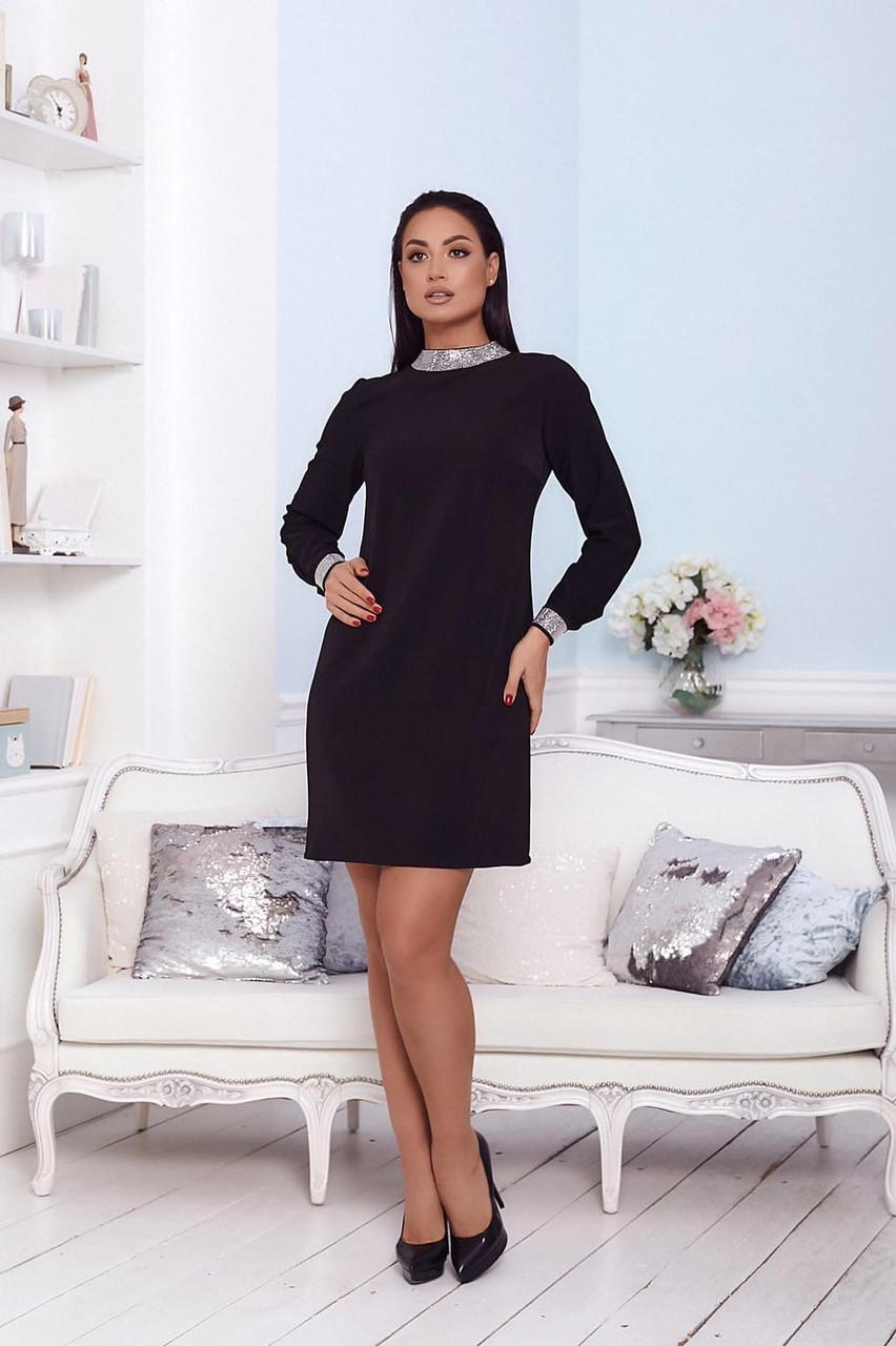 Нарядное платье женское Креп костюмка Размер 48 50 52 Разные цвета