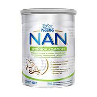 Молочна суміш NAN Потрійний комфорт, 0+, 400г