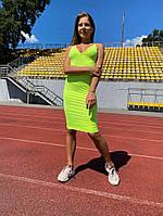 Женское платье на бретельках Lameia Неоновое