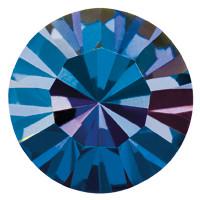 Пришивные стразы в цапах Preciosa (Чехия) ss29 Crystal Bermuda Blue/золото