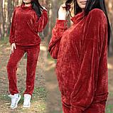 Женский повседневный костюм из велюра в спортивном стиле, фото 2