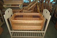 Люлька-кровать детская с деревянным основанием, без капюшона