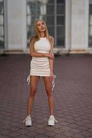 Платье на завязках с круглым вырезом Lameia Белый