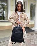 Женский рюкзак david jones из эко-кожи черный, фото 5