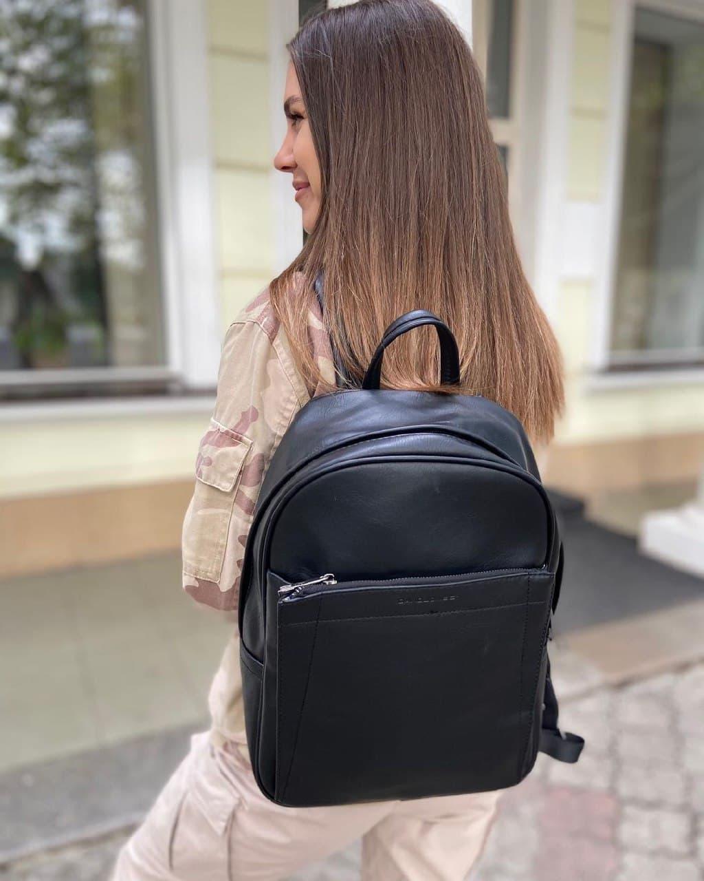 Женский рюкзак david jones из эко-кожи черный
