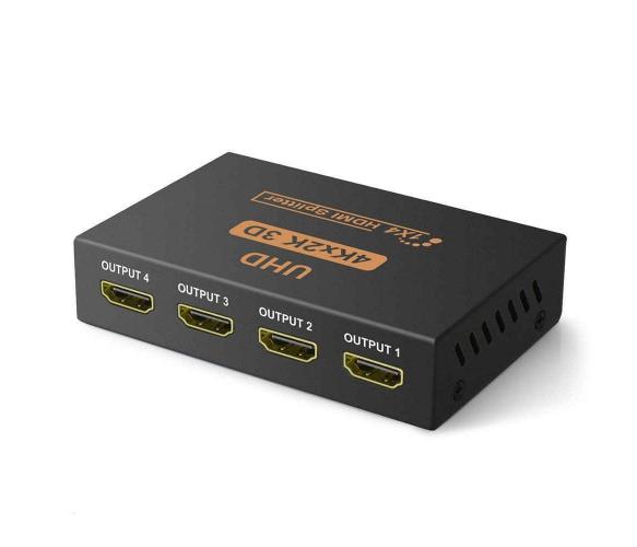 Активный HDMI сплитер 1=>4 порта, 4K, 1080Р, 1,4 версия, DC5V/2A HDMI Splitter
