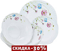 """Набор посуды жар-стекло Maestro - 19 ед. """"васильки"""" MR-30066-19S"""