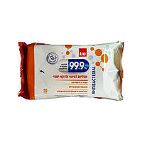 """Антибактериальные салфетки для общей уборки Sano """"99.9% Antibacterial """" 50 шт, арт.848345"""