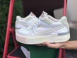 Puma женские демисезонные белые с бежевым кроссовки на шнурках, фото 3