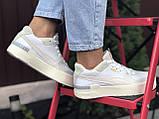 Puma женские демисезонные белые с бежевым кроссовки на шнурках, фото 6