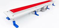 Душевой канал Styron с сухим сифоном и стеклянной решеткой RED PAINTED 800мм, фото 1