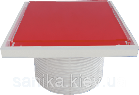 Надставка STYRON со стеклянной решеткой RED 150х150 мм