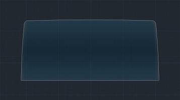 Защитное гибридное стекло на монитор MATT LEXUS NX 2017