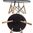 Столик кухонный обеденный Bonro В-957-600 60х72 см + 4 черных кресла B-173, фото 3