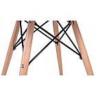 Столик кухонный обеденный Bonro В-957-600 60х72 см + 4 черных кресла B-173, фото 4