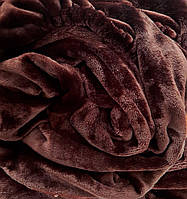 Плед на кушетку Плюшевый, Шоколад (110 х 180 см)