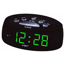 Годинник мережеві VST-773-4, зелені, USB