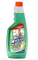 """Засіб д/скла """"Містер Мускул"""" 500мл (запаска) Зелений/12"""