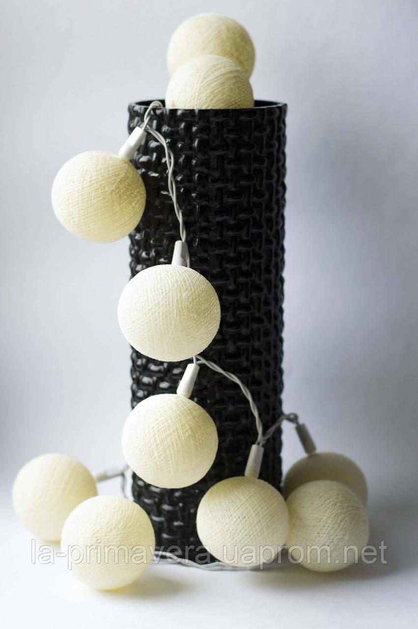 Хлопковая гирлянда Тайские радужные чудо-фонарики Ivory 35 шт.