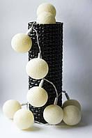 Хлопковая гирлянда Тайские радужные чудо-фонарики Ivory 35 шт., фото 1