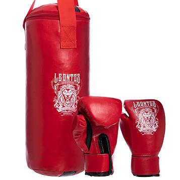Боксерский набор детский (перчатки+мешок) LEV (PVC, мешок h-40см, d-15см)