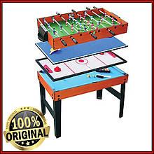 Игровой стол 4 в 1 Santos Artmann настольный футбол аэрохокей настольный тенис бильярд Германия