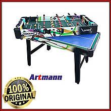 Игровой стол 4 в 1 PALERMO настольный футбол, теннис, аэрохоккей и бильярд