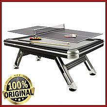Бильярдный стол Prato с теннисной крышкой для игры в американский пул 214 х 120 х 78 см из ЛМДФ