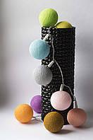 Хлопковая гирлянда Тайские радужные чудо-фонарики Pastel1 35 шт., фото 1