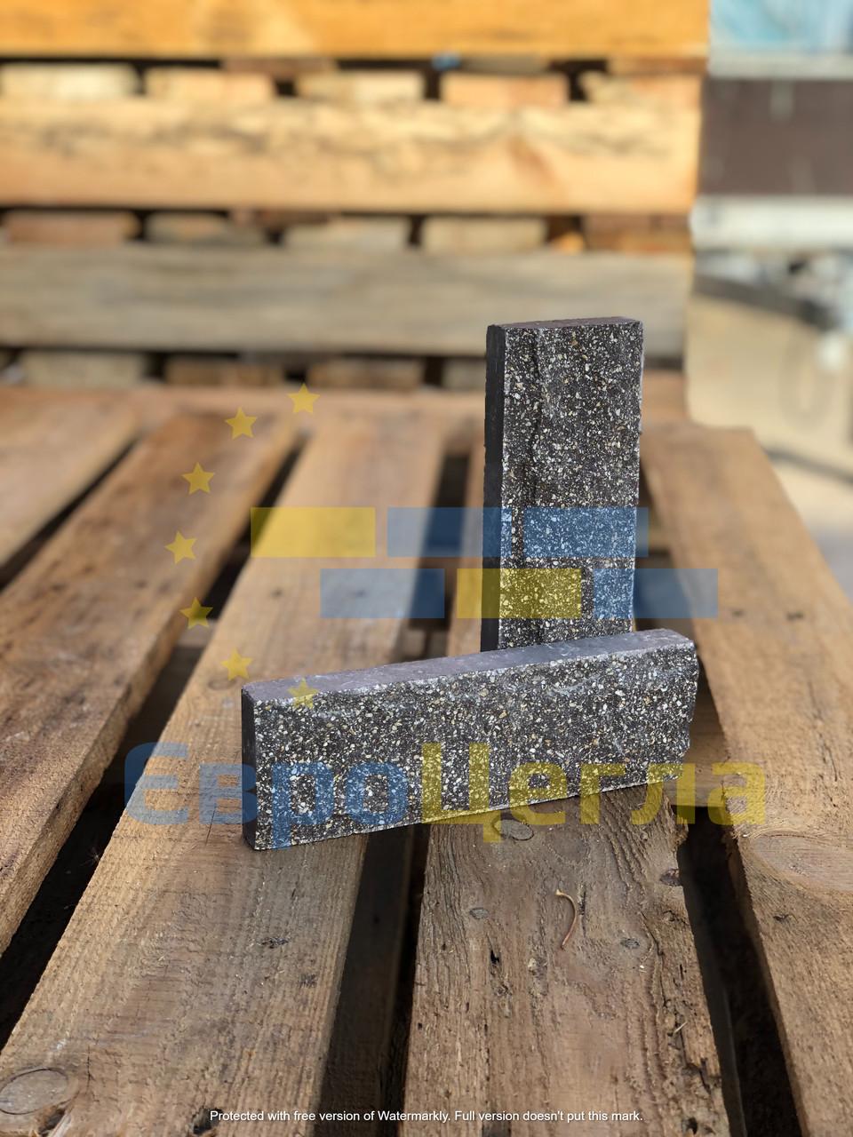 Фасадная плитка серая, размер 200х65х20мм