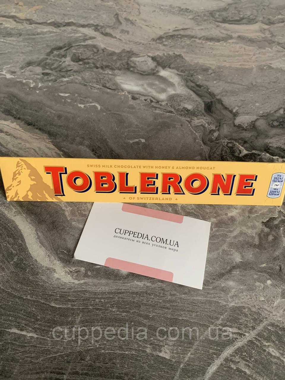 Молочный шоколад Toblerone с мёдом и миндальной нугой 100 грм