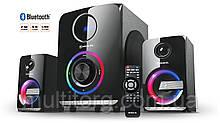 Колонки 2.1 REAL-EL M-580 black (58Вт, Bluetooth, USB, SD, FM, ДУ)