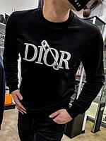 Свитшот Dior черного цвета|Свитер Диор мужской женский|Пуловер мужской Диор теплый