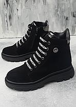 Крутые женские ботинки кожаные на платформе, размеры 36-41, фото 3