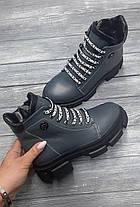 Крутые женские ботинки кожаные на платформе, размеры 36-41, фото 2