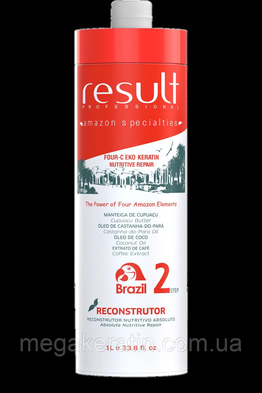 Кератин для волос Result FOUR-C EKO KERATIN PROFESSIONAL (2й шаг реконструктор) 1л