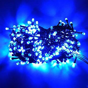 Гирлянда с лампочками конус 300 LED синий D100