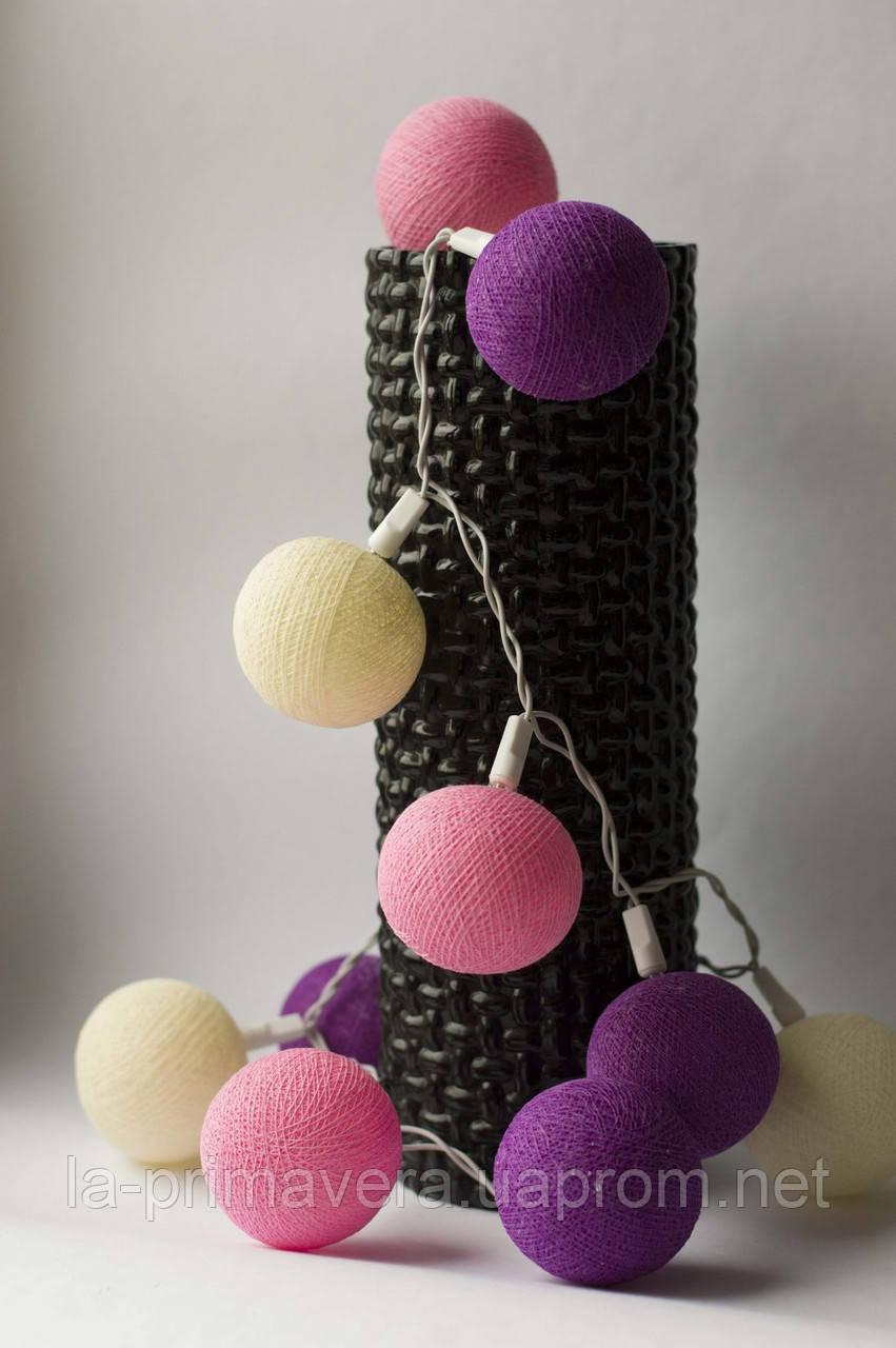 Хлопковая гирлянда Тайские радужные чудо-фонарики Sweet Purple 35 шт.