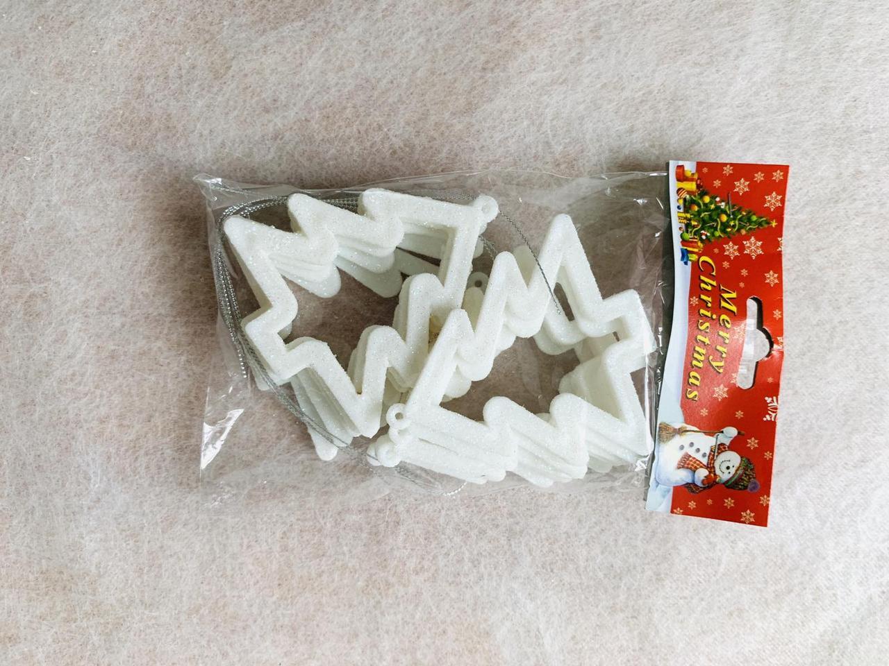 Іграшка новорічна ялинка рамка 3D 10 штук