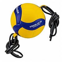 Оригинальный волейбольный мяч с резинками Mikasa V300W AT-TR (V300W ATTR)