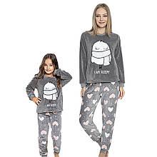 Family look одинаковые пижамы для мамы и дочки турецкие, домашние костюмы I`m Sleepy
