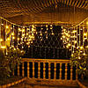 """Внешняя LED гирлянда Бахрома """"Icicle"""" 5 метров Теплый Белый, 100 Ламп белый провод каучук пвх, 8 режимов, фото 2"""