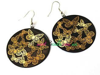 Серьги Бабочки пластины