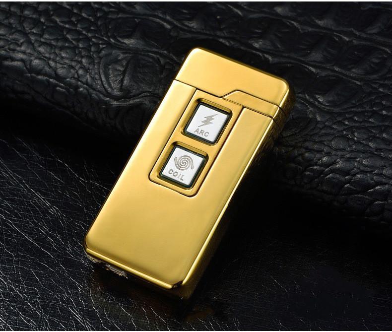 USB зажигалка две в одной Double touch gold 018_4