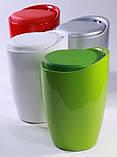 Пуф TWEET зелёный пластиковый с подушкой кожзам AMF, фото 7